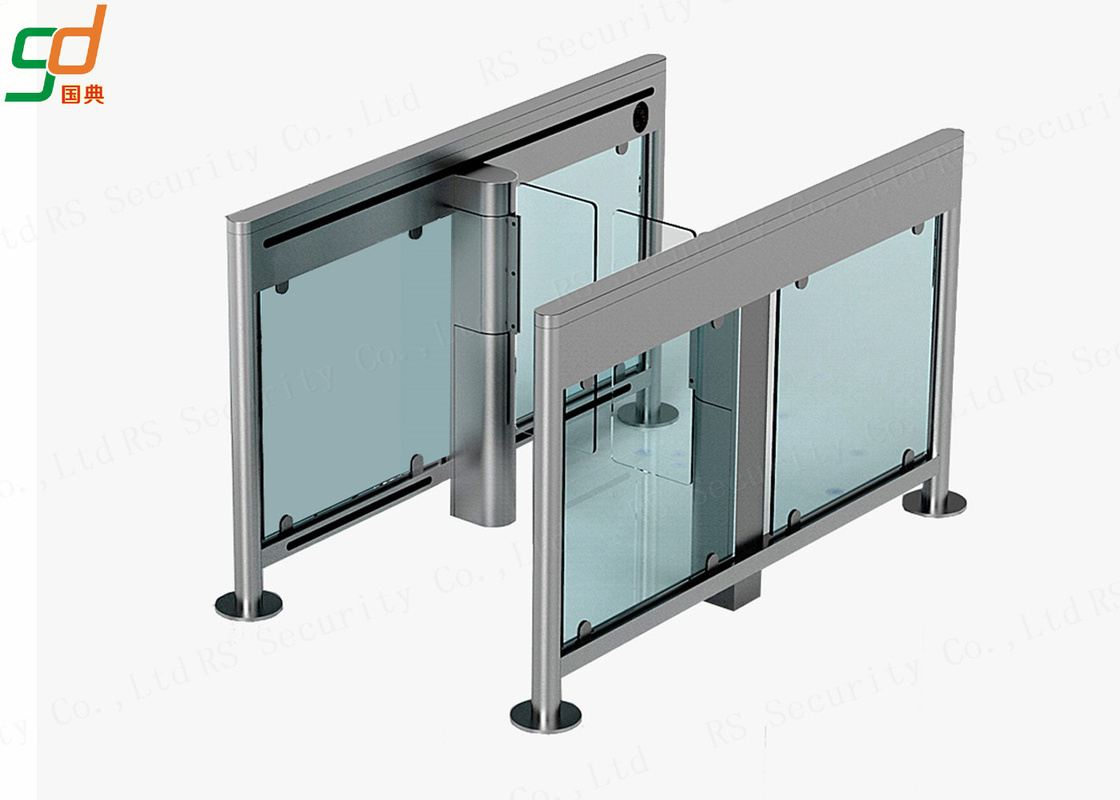 Security Barcode Glass Pedestrian Swing Gate Turnstile Barrier Systems Waterproof Level
