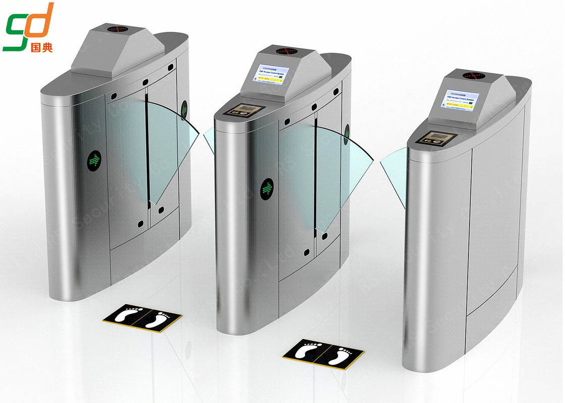 Retractable Flap Barrier Gate Turnstile Painted Intelligent For Access